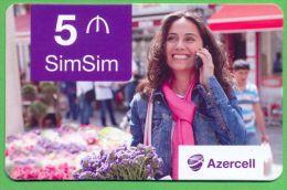 Azerbaijan GSM Prepaid - Azercell 5 Manat /like UNC / - Azerbaïjan
