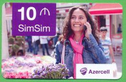 Azerbaijan GSM Prepaid Card - Azercell 10 Manat /Used,but Like UNC / - Azerbaïjan