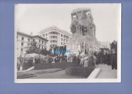 Photo Ancienne - ALGER ( Algérie ) - Commémoration De Guerre Devant Le Monument - Voir Notables - Photo Leroy - Guerre, Militaire