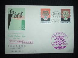 LETTRE TP WORLD REFUGE YEAR 300 + 040 OBL. 7 IV 60 TAIWAN CHINA - 1945-... République De Chine