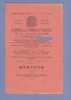 Livret Ancien De 1925 - TROYES - Ligue Des Combattants De La Grande Guerre Du Département De L´ Aube - Statuts - Livres, Revues & Catalogues