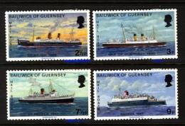 GUERNSEY - 1973 MAIL PACKET BOATS (4V) FINE MNH ** - Guernsey