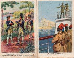 -  CPA - Dépliant Pour Engagement Dans Les Troupes Coloniales - 723 - Régiments