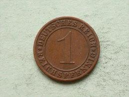 1928 G - 1 ReichsPfennig - KM 37 ( Uncleaned Coin / For Grade, Please See Photo ) !! - [ 3] 1918-1933 : República De Weimar