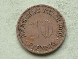 1903 G - 10 Pfennig - KM 12 ( Uncleaned Coin / For Grade, Please See Photo ) !! - [ 2] 1871-1918: Deutsches Kaiserreich