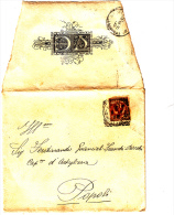 Lettera 1908 Da L'Aquila A Popoli (molto Bella) - Annunci Di Nozze