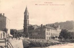 I560/12 . Decazeville . Ecoles Et Clocher . - Decazeville