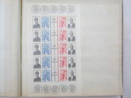 VEND FEUILLE COMPLETE DE 5 BANDES DE TIMBRES DE FRANCE N° 1698A + CACHETS VERSAILLES 9/11/1971 (JOUR D´EMISSION) !!!!(b) - Feuilles Complètes