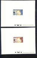 F. Polynesie 2 Epreuve Deluxe, Proofs Of 1964 MNH - Sin Dentar, Pruebas De Impresión Y Variedades