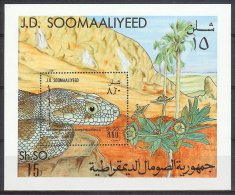 Mzp087 REPTIELEN SLANG REPTILES SNAKE MOUNTAIN SCHLANGEN QWS 1982 PF/MNH - Somalië (1960-...)