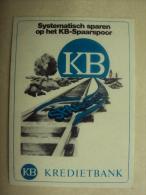 ZK 173 - SYSTEMATISCH SPAREN OP HET KB-SPOOR - KB - KREDIETBANK - Aufkleber