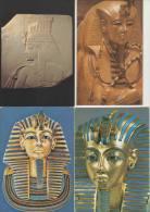 10 POSTCARDS : EGYPT ; Nefertiti, Tutankhamen, Hieroglyphs, Golden Mask, Mosque, Teje Etc. (See 4 Scans) - Postkaarten