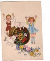 BARRE DAYEZ/enfants Chats Fleurs/V SPAHN/Réf:2135 - Altre Illustrazioni