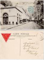 Uriage Les Bains - La Chapelle (vignette Grand Hôtel Du Rocher Au Verso) - Uriage