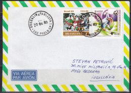 2732. Brazil, 1983, Football, Letter - Brésil