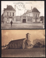 LOT 2 CPA ANCIENNES- FRANCE-(86)- LENCLOITRE : HOTEL DE VILLE + LAVAUSSEAU L'EGLISE ROMANE- TRES GROS PLAN - Poitiers