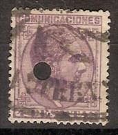 España Telégrafos T 198 Alfonso XII. 1878 - Télégraphe