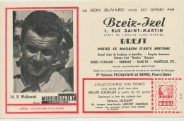Roger Walkowiak Né A Montluçon Lublin Cusset Miroir Sprint Tour De France Buvard Pub Breiz Izel Brest - Buvards, Protège-cahiers Illustrés