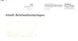 BRD Erfurt Privatpost 2013 THPS THüringer Post Service AFS Stadtverwaltung Wappen Briefwahlunterlagen Bundestagswahl - [7] Federal Republic