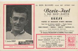 Louison Bobet Né A St Meen Le Grand 35 Miroir Sprint Tour De France Buvard Pub Breiz Izel Brest - Buvards, Protège-cahiers Illustrés