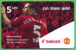 Azerbaijan GSM Prepaid - Bakcell 5 Manat /like UNC / Football Sport - Azerbaïjan