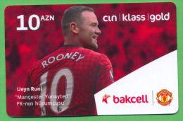 Azerbaijan GSM Prepaid - Bakcell 10 Manat /like UNC / Football Sport - Azerbaïjan