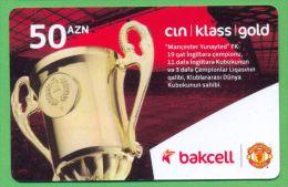 Azerbaijan GSM Prepaid - Bakcell 50 Manat /like UNC / Football Sport - Azerbaïjan