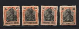 D.R.Nr.89,II,4 Farbtöne,xx (133) - Deutschland