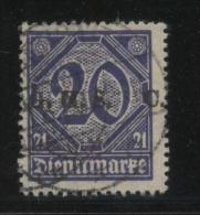 POLAND HAUTE SILESIE PLEBISCITE UPPER SILESIA 1920 OFFICIAL STAMPS 1ST CGHS OVERPRINT SERIES 20PF BLUE SPLIT - ....-1919 Gouvernement Provisoire
