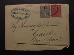 """ITALIA Regno-1866- """"T 14-15 Torino"""" C. 1-2 SIENA>GAIOLE (descrizione) - 1861-78 Vittorio Emanuele II"""