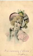 CPA  JOLI DESSIN DE JEUNE FEMME 1905 - Donne