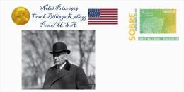 Spain 2013 - Nobel Prize 1929 Peace - Frank Billings Kellogg/United States Special Prepaid Cover - Nobel Prize Laureates