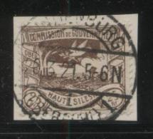 POLAND HAUTE SILESIE PLEBISCITE UPPER SILESIA 1920 25PF BROWN USED HINDENBURG ZABRZE - ....-1919 Provisional Government