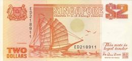 BILLET # SINGAPOUR # 2 DOLLARS # 1990  # PICK 27 # NEUF # - Singapour