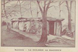 Saumur  -  Le Dolmen De Bagneux   -  S-375 - Dolmen & Menhirs