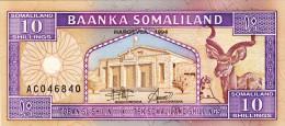BILLET # SOMALIES  # 10 SHILLINGS # 1994  # PICK 2 A  # NEUF # - Somalia