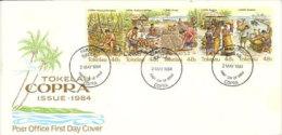 Iles Tokelau_OCÉAN PACIFIQUE .  La Culture Du Coprah. FDC 1984  (forte Côte) - Tokelau