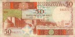 BILLET # SOMALIES  # 50 SHILINS  # 1986  # PICK 34  # CIRCULE # - Somalia