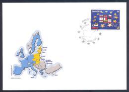 SLOVENIA Slowenien Cover 2004 - European Union Enlargement - Slovenia New Star Of Europe; New Members Cachet; Rare - Slovénie