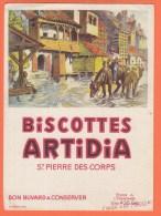 Buvard Biscottes ARTIDIA Saint Pierre Des Corps 1 - Biscotti