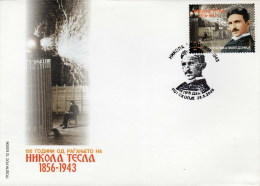 Macedonia / FDC / Famous People / Scienses / Physics / Inventors / Nikola Tesla - Fysica