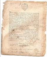 LE HAVRE ROUEN CONNAISSEMENT DU NOTRE DAME DES CARMES POUR BILBAO  6 PAGES 1788 - Documents Historiques