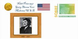 Spain 2013 - Nobel Prize 1947 Medicine - Gerty Theresa Cori/United States Special Prepaid Cover - Nobelpreisträger