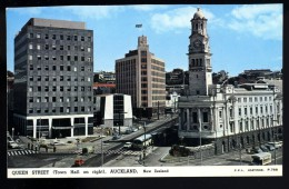 Cpa De Nouvelle Zélande Auckland Queen Street -- Town Hall On Right  ..  New Zealand      ROSC18 - New Zealand
