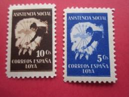 ASISTENCIA SOCIAL Coréros España Loya 2 Timbre Stamp Label VIGNETTE ERINNOPHILIE Cinderellas Cenicientas Cenerent - Erinofilia