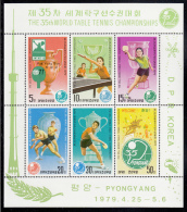 Korea, North MNH Scott #1801a Souvenir Sheet Of 6: 35th World Table Tennis Championships, Pyongyang - Corée Du Nord