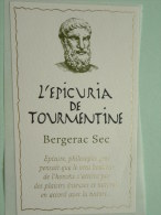 L'Epicuria De Tourmentine Bergerac Sec ( Zelfklevend Etiket / Zie Details Op Foto ) !! - Bergerac