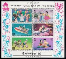 Korea, North MNH Scott #1907-#1912 Souvenir Sheet Of 6: International Day Of The Child - Corée Du Nord