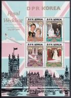 Korea, North MNH Scott #2116-#2119 Souvenir Sheet Of 4: Charles And Diana Royal Wedding - Corée Du Nord