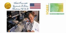 Spain 2013 - Nobel Prize 1988 Medicine - Gertrude B.Elion/United States Special Prepaid Cover - Nobelpreisträger